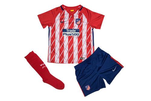 Atletico Madrid 17/18 Home Little Kids Football Kit