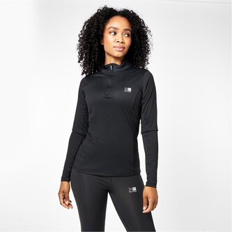 Quarter Zip Long Sleeve Top Ladies