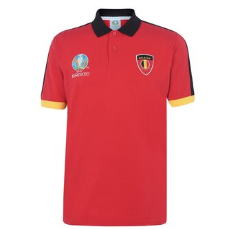 Euro 2020 Belgium Polo Shirt Mens