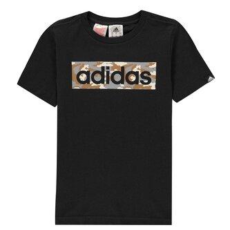 Camo Linear T Shirt Junior