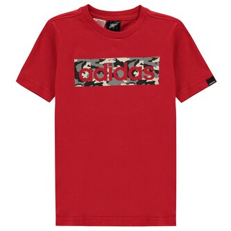 Camo Linear T Shirt Junior