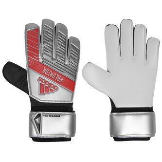 Predator Training Predator Training Finger Save  Goalkeeper Gloves Silver Metallic Black