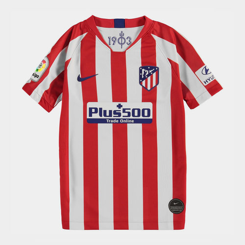 Atletico Madrid 19/20 Home Replica Kids Football Shirt