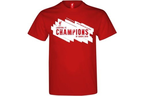 Liverpool Champions of Europe T Shirt Mens