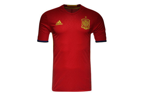 Spain EURO 2016 Home Authentic S/S adiZero Football Shirt