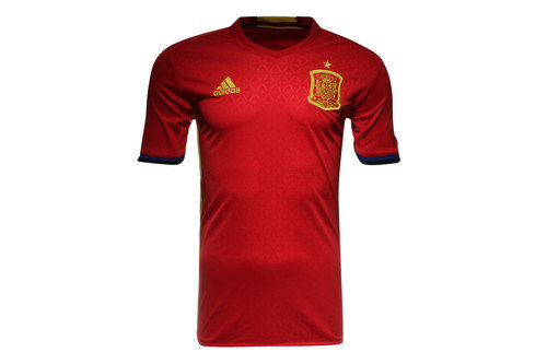 Spain EURO 2016 Home Kids S/S Replica Football Shirt