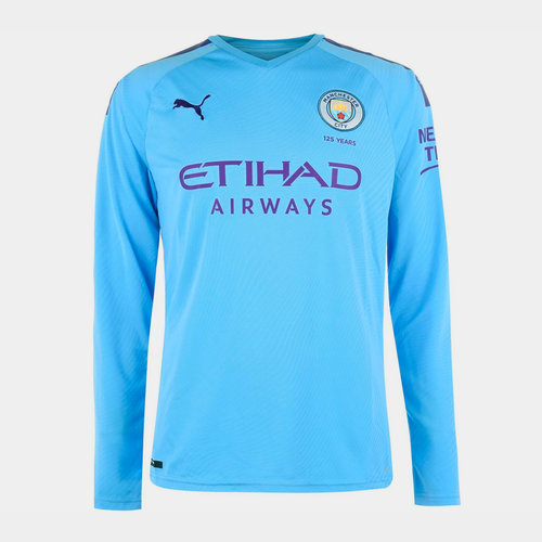 Manchester City Long Sleeve Home Shirt 2019 2020