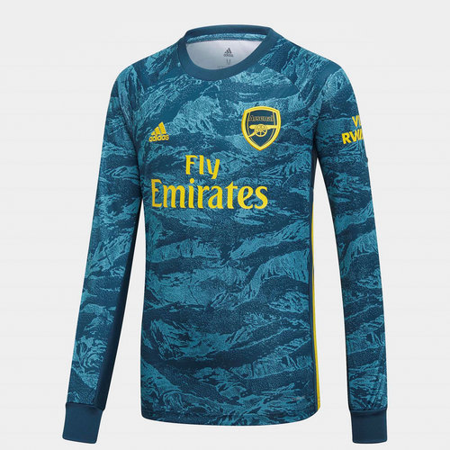 Arsenal 19/20 Kids Home Goalkeeper L/S Football Shirt
