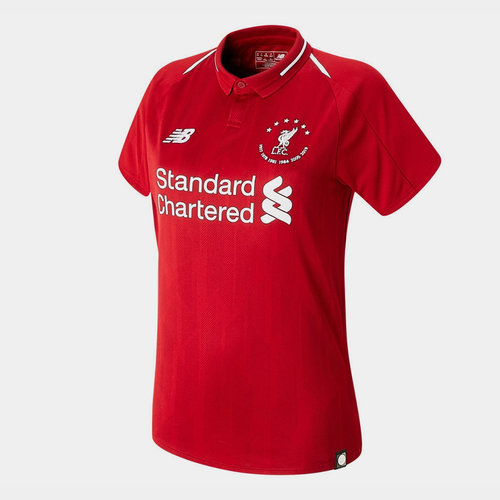 Liverpool 6 Times Football Shirt Ladies