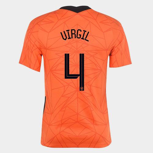 Netherlands Virgil van Dijk Home Shirt 2020
