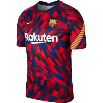 FC Barcelona Pre Match T Shirt 20/21 Mens