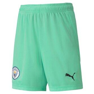 Manchester City Home Goalkeeper Shorts 20/21 Kids