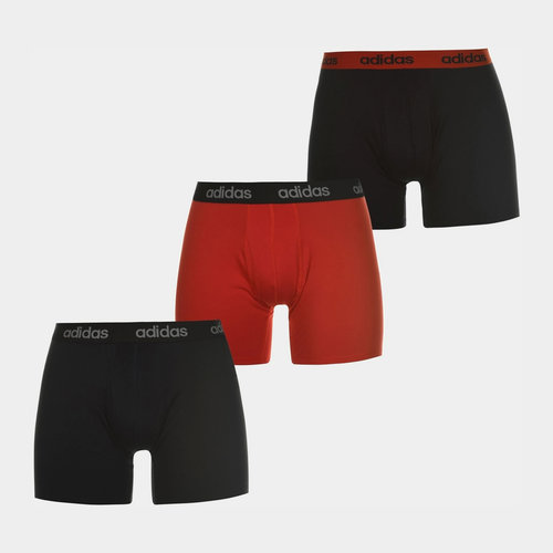3 Pack Performance Boxer Shorts Mens