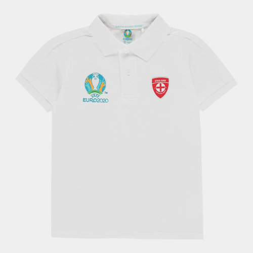 Euro 2020 England Polo Shirt Junior Boys