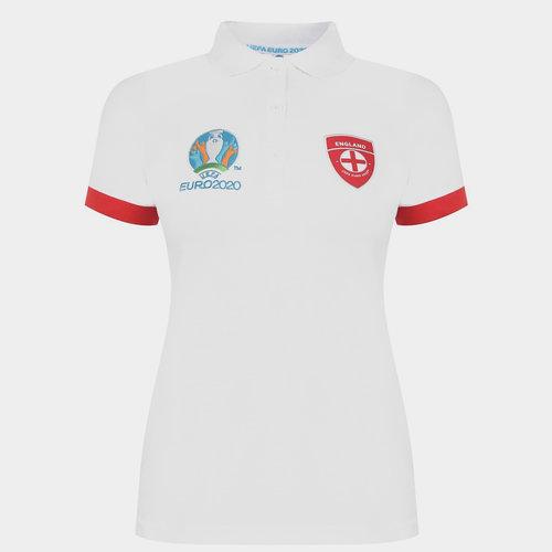 Euro 2020 England Polo Shirt Ladies