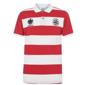 Euro 2020 Poland Stripe Polo Shirt Mens