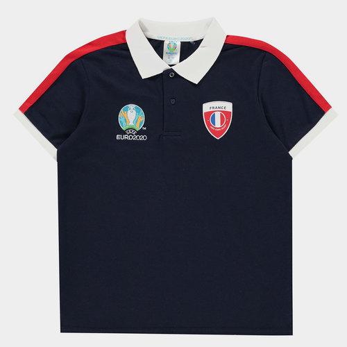Euro 2020 France Polo Shirt Junior Boys