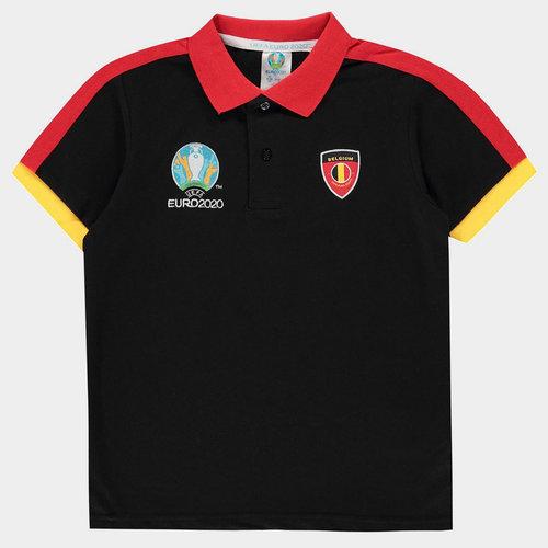 Euro 2020 Belgium Polo Shirt Junior Boys