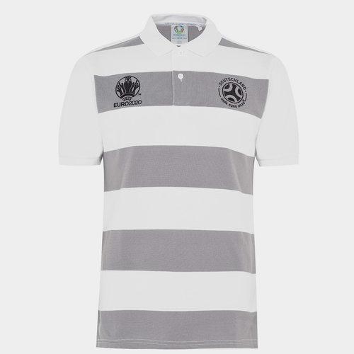 Euro 2020 Germany Stripe Polo Shirt Mens