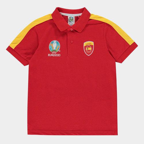 Euro 2020 Spain Polo Shirt Junior Boys