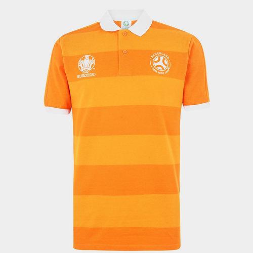 Euro 2020 Holland Stripe Polo Shirt Mens