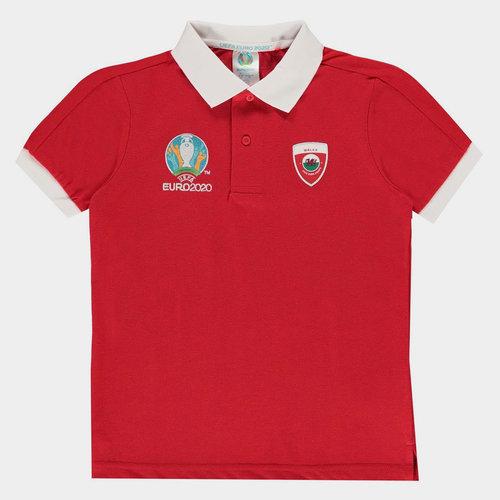 Euro 2020 Wales Polo Shirt Junior Boys