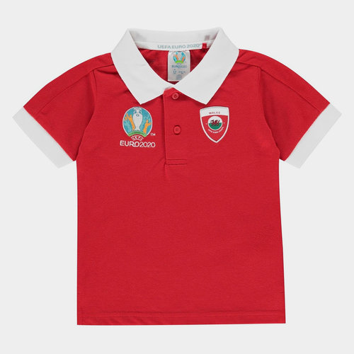 Euro 2020 Wales Polo Shirt Infants