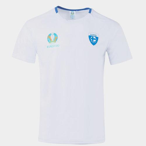 Euro 2020 Finland Polyester T Shirt Mens
