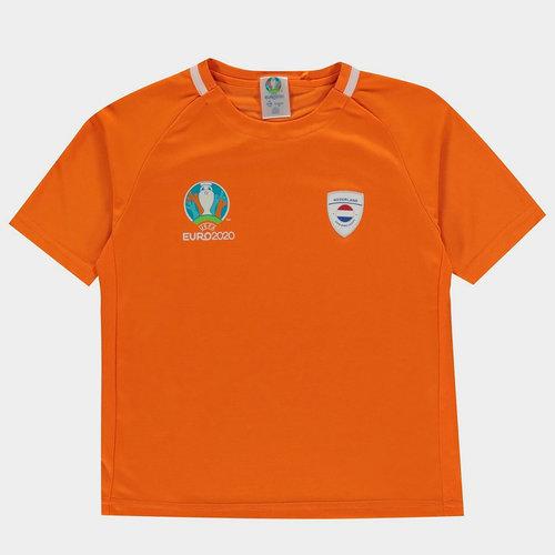 Euro 2020 Holland Poly Tee Juniors