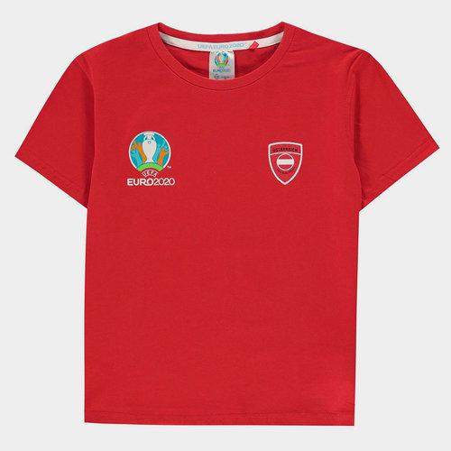 Euro 2020 Austria Core T Shirt Junior Boys