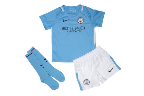 Manchester City 17/18 Little Kids Home Football Kit