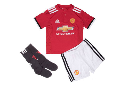 Manchester United 17/18 Home Mini Kids Replica Football Kit
