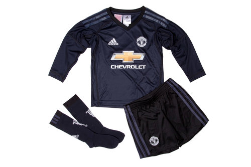 Manchester United 17/18 Home Mini Kids Goalkeepers Kit