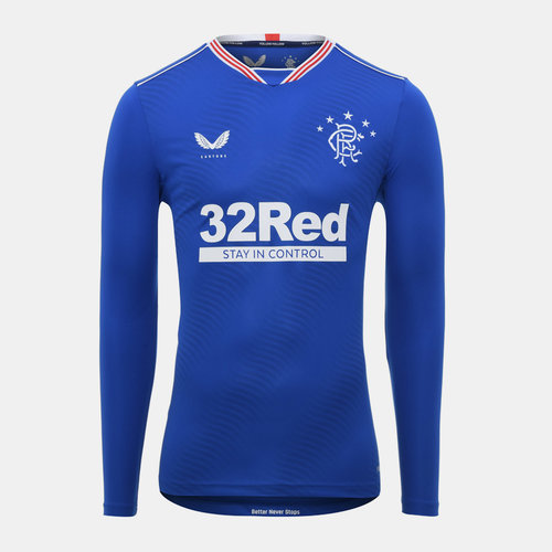 Rangers Home Long Sleeve Shirt 20/21 Mens