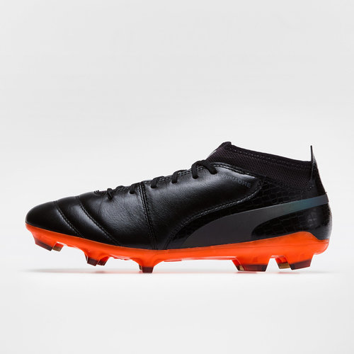 fd89b2c22 Puma One Lux 2 FG Football Boots. Black/Black/Orange