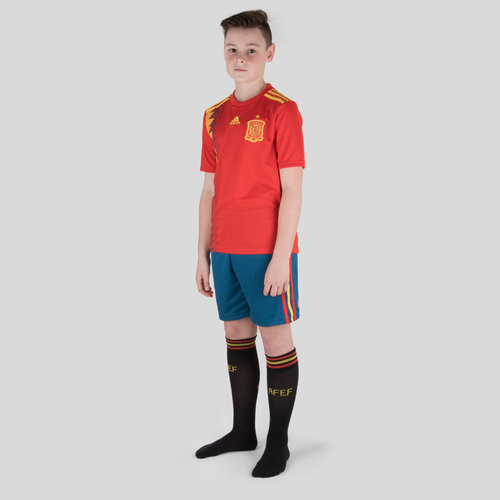 Spain 2018 Home Kids Replica Football Kit