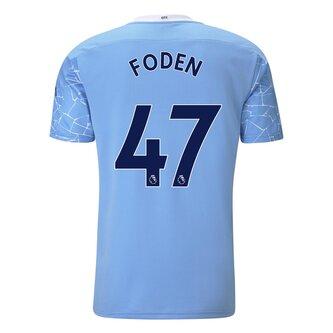Manchester City Phil Foden Home Shirt 20/21