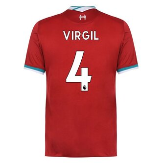 Liverpool Home Virgil van Dijk Home Shirt 20/21 Mens