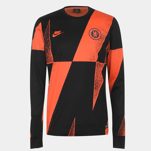 Chelsea FC Long Sleeve Pre Match Jersey Mens