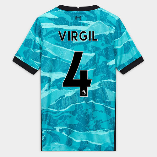 Liverpool Virgil van Dijk Away Shirt 20/21 Kids