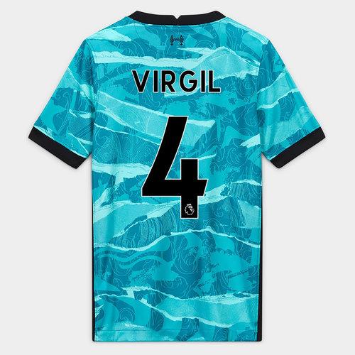Liverpool Virgil van Dijk Away Shirt 20/21 Kids