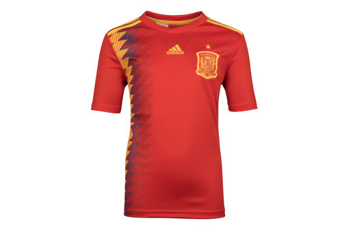Spain 2018 Home Youth S/S Replica Football Shirt