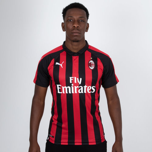 8c7809dc Puma AC Milan 18/19 Home S/S Replica Authentic Fit Football Shirt. Chilli  Pepper/Black