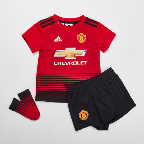 fa836d399f9 adidas Manchester United 18/19 Home Infant Replica Football Kit, £26.00