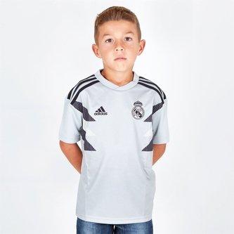 Real Madrid 18/19 Youth Pre-Match Football Training Shirt