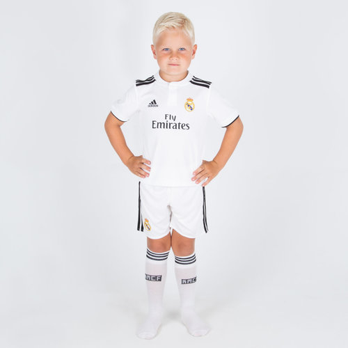 Real Madrid 18/19 Home Mini Kids Replica Football Shirt