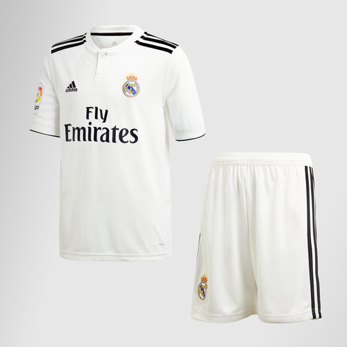 Real Madrid 18/19 Home Kids S/S Football Kit