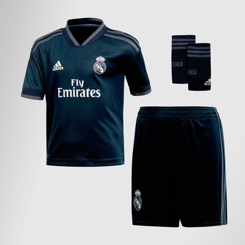 Real Madrid 18/19 Away S/S Mini Kids Football Shirt