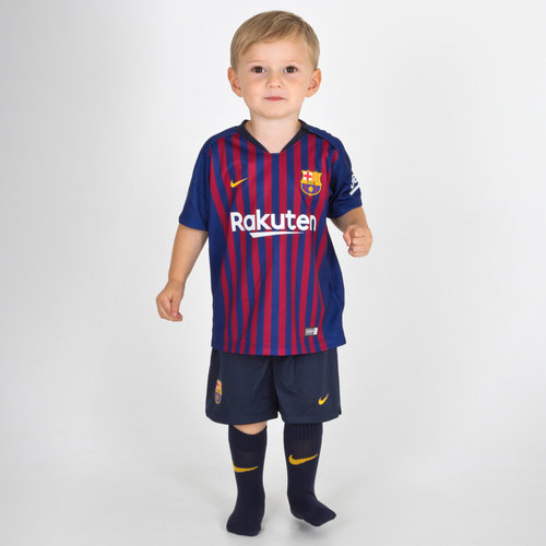 9253d237 Nike FC Barcelona 18/19 Infants Home Football Kit, £25.00