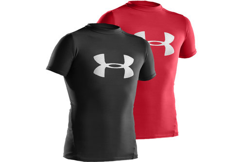 HeatGear Junior Compression Big Logo Short Sleeve T-Shirt